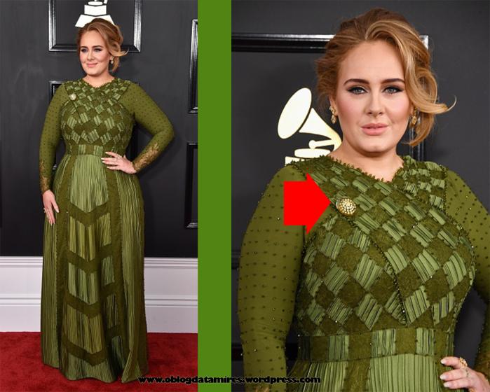 Adele no red carpet do Grammy Awards 2017 vestindo Givenchy
